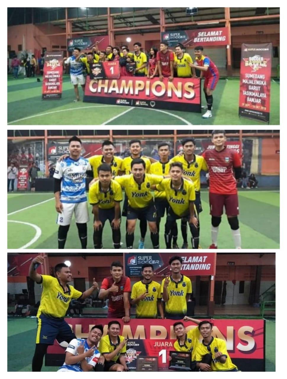 Timnas Futsal IPI Juara 1 dan top score pertandingan super soccer battle 2018