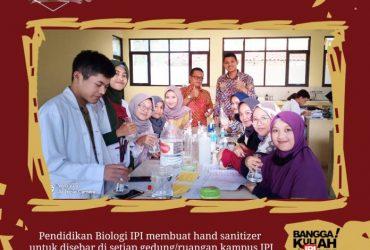 Hebat, Untuk Mencegah Virus Corona Jurusan Biologi IPI Garut Membuat Hand Sanitizer