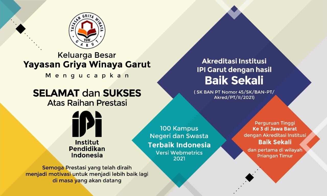 IPI Garut Meraih Akreditasi Baik Sekali oleh BAN-PT