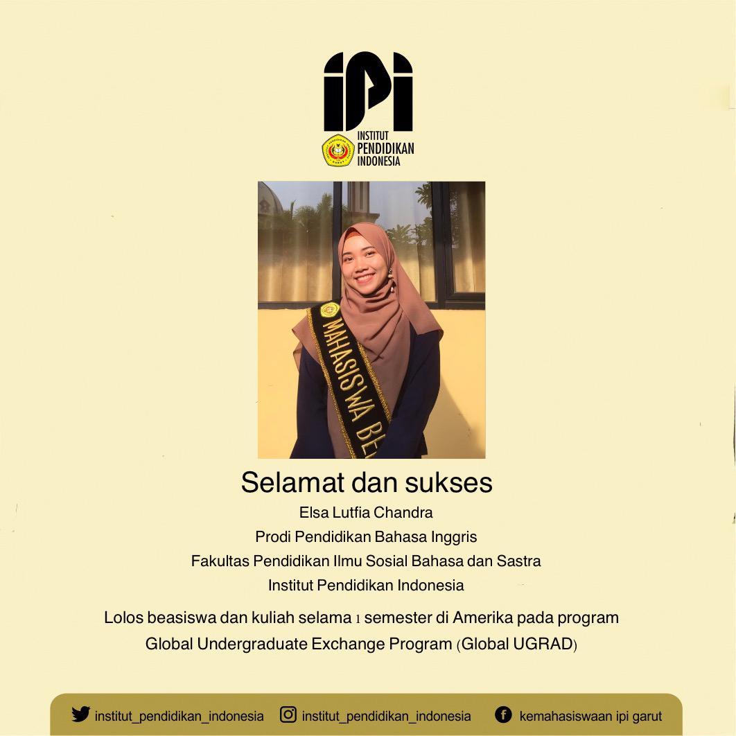 Mahasiswa IPI Lolos pada program Global Undergraduate Exchange Program (Global UGRAD)
